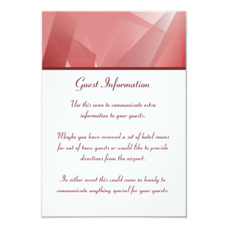 Crystal Rose Guest Information Card