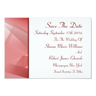 Crystal Rose Save The Date Cards