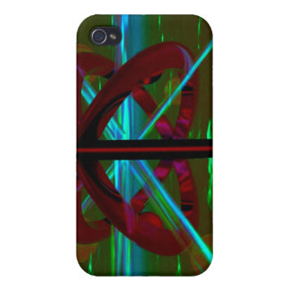 Crystal Sculpture, Abstract Art Case For iPhone 4