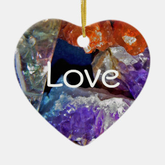 Crystal Secrets Mineral Abstract Ceramic Heart Decoration