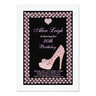 Crystal shoe Birthday Party Invitation