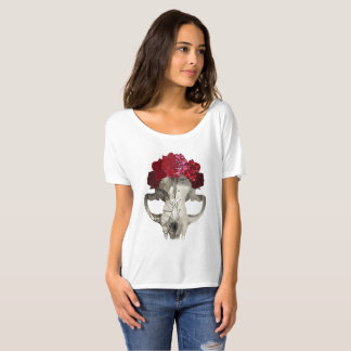 Crystal skull and roses T-Shirt