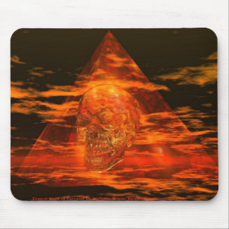 CRYSTAL SKULL In Pyramid Mouse Mat