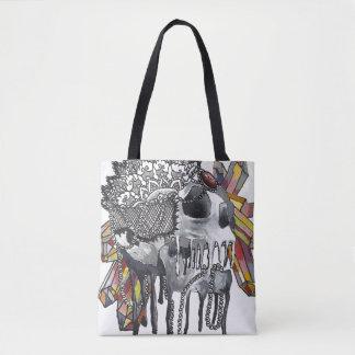 Crystal Skull Mandala Tote Bag