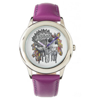 Crystal Skull Mandala Watch