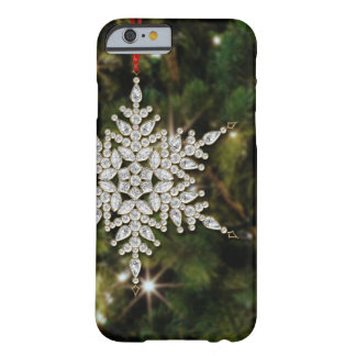 Crystal Snowflake Christmas iPhone 6 Case Barely There iPhone 6 Case