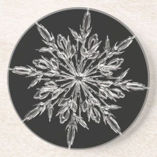 Crystal snowflake drink coaster