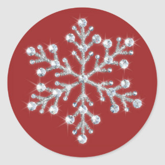 Crystal Snowflake Sticker red