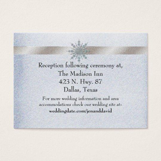 Crystal Snowflake Winter Wedding Enclosure Card