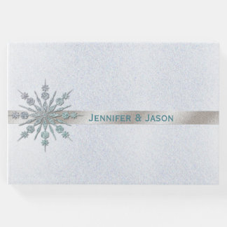 Crystal Snowflake Winter Wedding Guest Book
