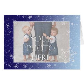 Crystal Snowflakes Greeting Card
