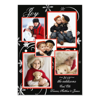 Crystal Snowflakes Photo Holiday Card 13 Cm X 18 Cm Invitation Card
