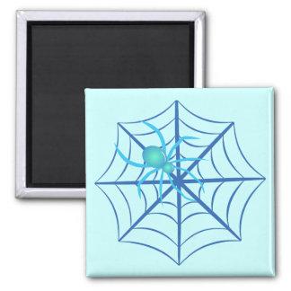 Crystal Spider Square Magnet