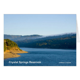 Crystal Springs Reservoir California Products Greeting Cards