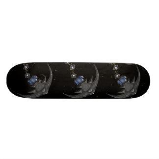 Crystal Stingray Black Cool Skateboard