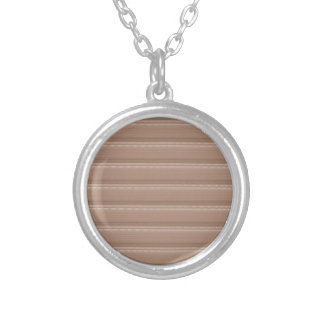 Crystal Stone Based Cream Brown Pattern NVN291 FUN Round Pendant Necklace