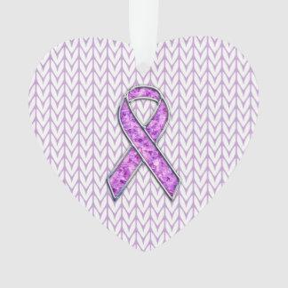 Crystal Style Pink Ribbon Awareness Knit
