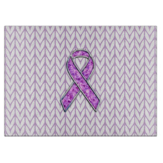 Crystal Style Pink Ribbon Awareness Knit Cutting Board