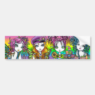 Crystal Sunny Daisy & Buttercup Rainbow Fairies Bumper Sticker