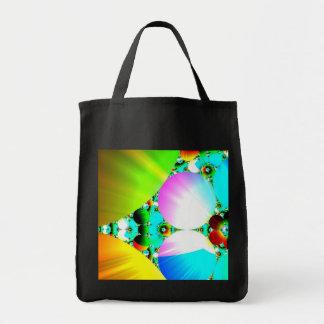 Crystal Sunrise - Abstract Fractal Rainbow Canvas Bags