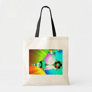 Crystal Sunrise - Abstract Fractal Rainbow Budget Tote Bag