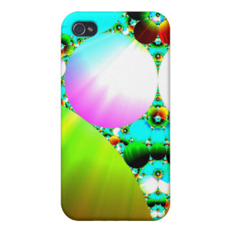 Crystal Sunrise - Abstract Fractal Rainbow Case For iPhone 4