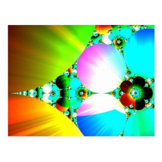 Crystal Sunrise - Abstract Fractal Rainbow Postcard