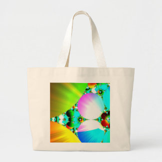 Crystal Sunrise - Abstract Fractal Rainbow Jumbo Tote Bag
