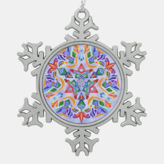 Crystal Symmetry (Snowflake Ornament) Pewter Snowflake Decoration