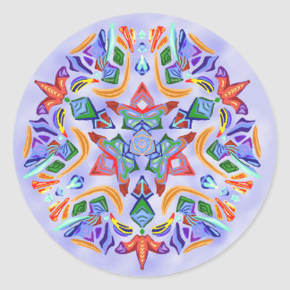 Crystal Symmetry (Sticker) Round Sticker