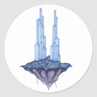 Crystal Towers Classic Round Sticker