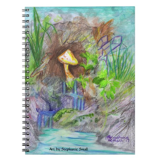 Crystal Waterfall Mushroom Notebook