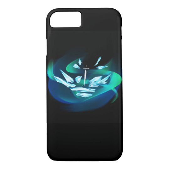 Crystal White Sword iPhone Case
