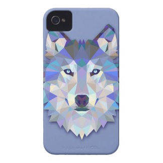 CRYSTAL WOLF Geometric Wolf Head Case-Mate iPhone 4 Cases