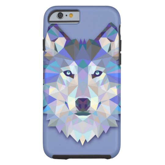 CRYSTAL WOLF Geometric Wolf Head Case-Mate iPhone Case ...