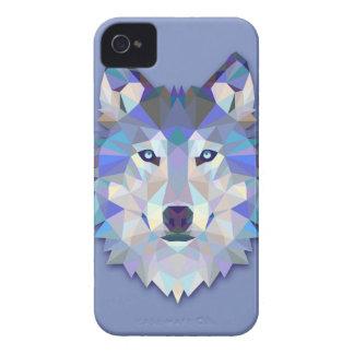 CRYSTAL WOLF Geometric Wolf Head iPhone 4 Case
