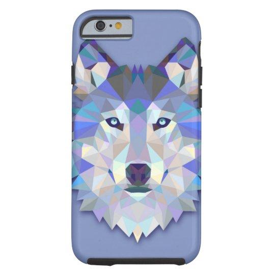 CRYSTAL WOLF Geometric Wolf Head Tough iPhone 6
