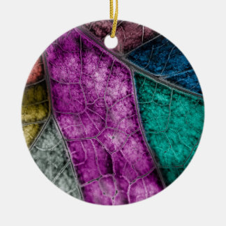 Crystalized Stained Glass Look Leaf Ornament