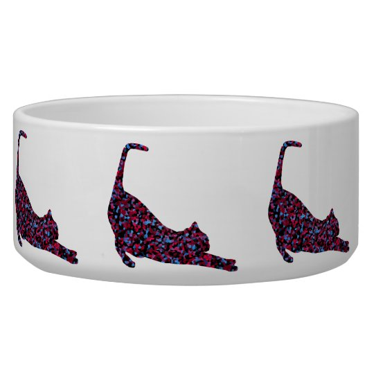 CrystalKatz Quilted Cat Custom Trendy Pet Bowls