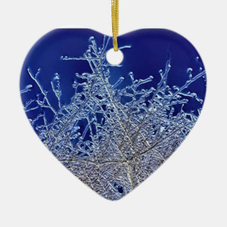 Crystalline Branches Heart Ceramic Decoration