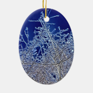 Crystalline Branches Oval Ceramic Decoration
