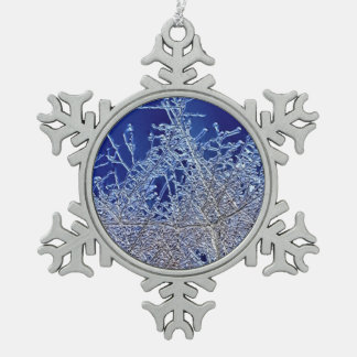 Crystalline Branches Pewter Snowflake Decoration