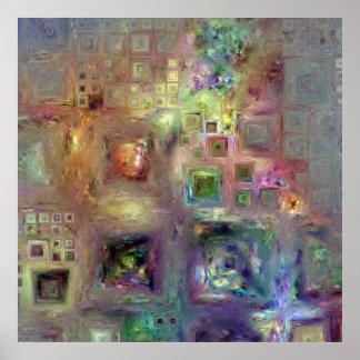 Crystalline Squares 8 Print