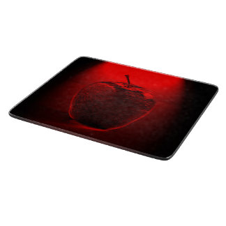 Crystallized Red Apple Cutting Board