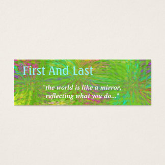 Crystallized ~ template skinny mini business card