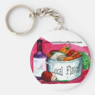 Crystal's  Local Flavor keychain