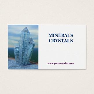 crystals minerals shop business card