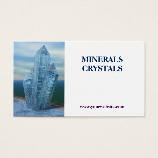 crystals minerals shop business card