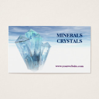 crystals minerals shop therapy business card