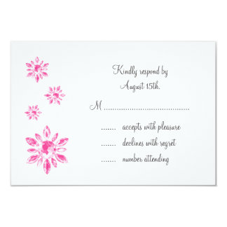 Crystal's Wedding RSVP (white) 9 Cm X 13 Cm Invitation Card